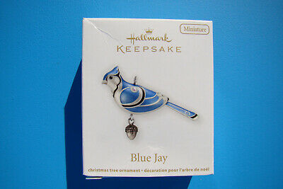New Hallmark Blue Jay Miniature Beauty Of Birds 2012 #3 Ornament Damaged Box - J