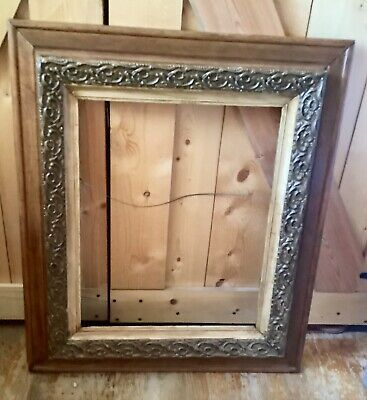 Antique  vintage Ornate Wooden Wood & Gold Gilt Gesso Large Picture Frame