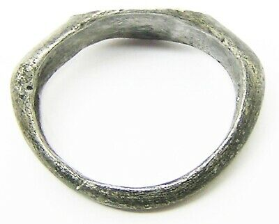 2nd - 3rd century A.D Ancient Roman Silver Finger Ring Henig Type III