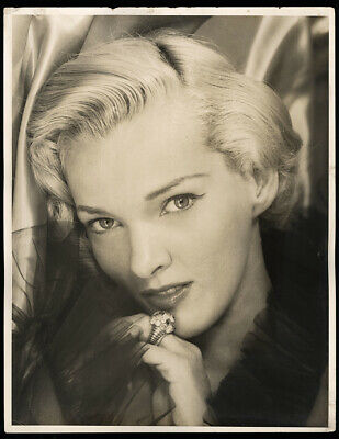 Bunny Yeager 50s Large Format Gelatin Silver Photograph Self Portrait Sepia Rare