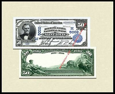 Reproduction 1902 $100 Dollars Blue Seal US Paper Money Currency Bill Copy Note