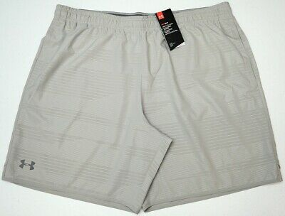 Mens Under Armour Sweat Shorts Athletic Grey//Black Size 5XL New NWT $45