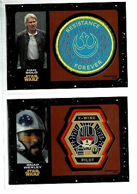 2019 Topps Star Wars Rise of Skywalker Black Patch Relic /50 LOT Wexley/Solo (KD