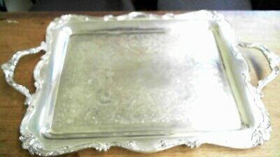 Wilcox International Silver Co.Serving Tray Pattern: Rochelle No#2718/2 Vintage