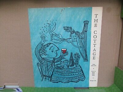 Vintage CHICAGO ILLINOIS Restaurant Menu / THE COTTAGE / Very Good Condition