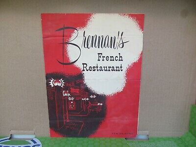 Vintage NEW ORLEANS LA Restaurant Menu / BRENNAN'S / Good Condition