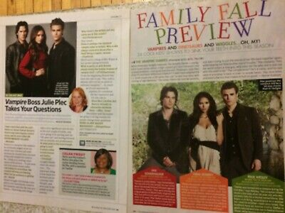 Vampire Diaries, Ian Somerhalder, Paul Wesley, Lot of TWO Full Page Clippings
