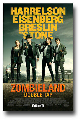 "Zombieland 2 Poster Double Tap 11""x17"" Emma Stone BRoad SameDay Ship from USA"