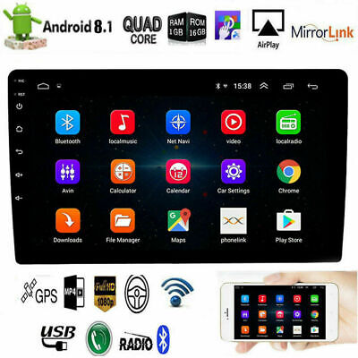 """10.1"""" Android 8.1 Car Stereo Radio GPS Double 2Din Wifi OBD2 Mirror Link Player"""