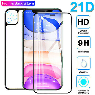 21D Lens+Front+Back Film Tempered Glass Screen Protector for iPhone 11 Pro Max X