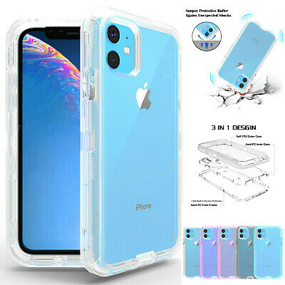 Clear Case For iPhone 11 / Pro /Max Xs X XR 678 Shockproof Heavy Duty Hard Cover