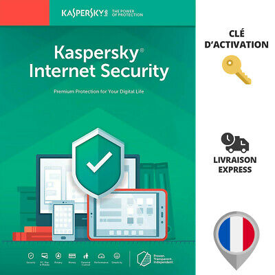 🔑 Kaspersky Internet Security 2019 2020 - 1 An - 3 Appareils - Pc Mac Android