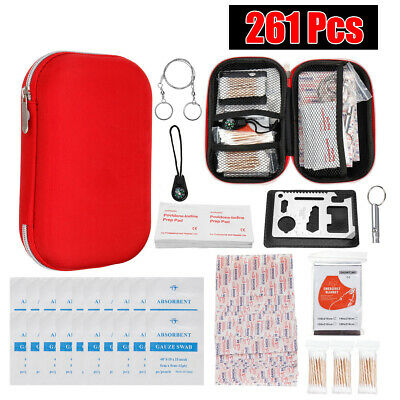 First Aid Kit Emergency Bag Car Outdoor Medical Survival Treatment Rescue Hiking