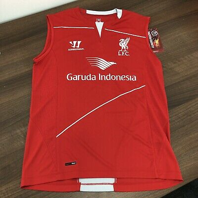 Liverpool FC Training Vest Top Warrior BNWT New Mint Labels Small S Official 99p