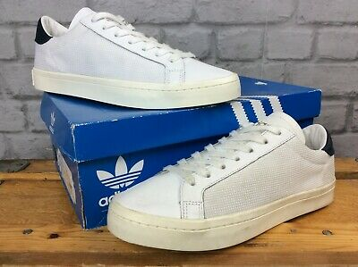 ADIDAS ORIGINALS MENS Uk 8 Court Vantage Trainers White Navy