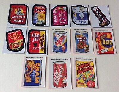Topps Wacky Packages 2006 Magnets 2005 Clear Cling Clingy Stickers