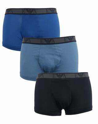 Emporio Armani EA7 3 Pack Boxer Shorts in Blues - boxer trunks, pants