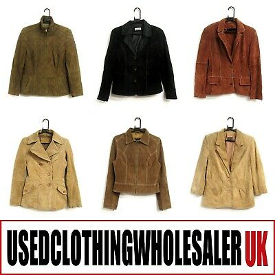 10 Grade A Vintage Real Suede Jackets Women's Wholesale Clothing Job Lot