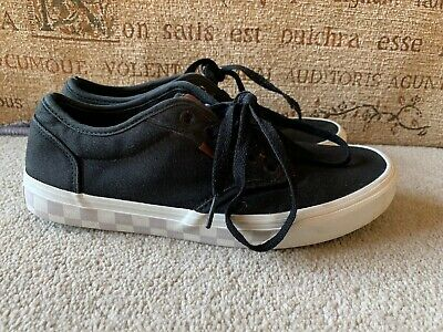 Vans Off The Wall Black Lace Up Trainers Size Uk 6.5