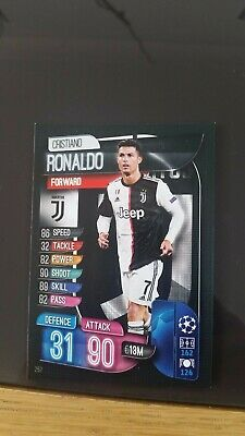 Match attax 19 20 cristiano ronaldo juventus Base set
