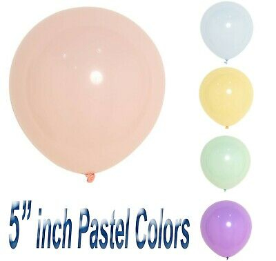 "5""inch Balloons Small Round 10pk Pastel latex Latex Party Birthday Decor fs"