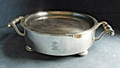 Superb GEORGIAN ~ Sheffield SILVER Plated ~ CRESTED ~ PLATE Tureen STAND ~ c1800