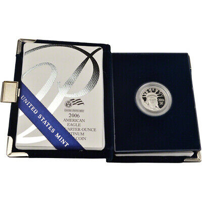 2006 W American Platinum Eagle Proof 1/4 oz $25 in OGP