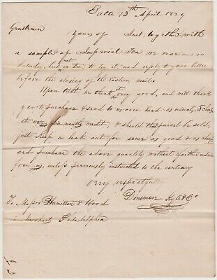1829 Baltimore Md Letter - Ordering Imperial Tea From China