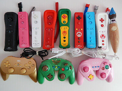 Nintendo Wii & U Motion Plus Wiimote Wii Remotes, Pro Controllers You Choose!