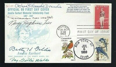 Female Notable Aviators signed cover 15 total names including Betty Gillies