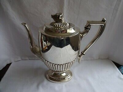 Rare Art Deco Silver Plated Teapot Bull Embellishment Thorley`s Special Prize