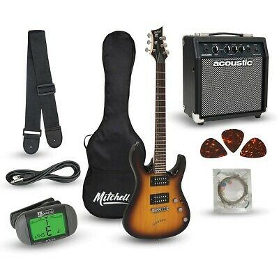 Mitchell MD150PK Electric Guitar Launch Pack with Amp 3-Color Sunburst