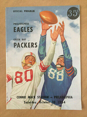 Vintage 1954 Nfl Green Bay Packers @ Philadephia Eagles  Football Program