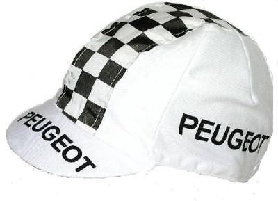 PEUGEOT RETRO CYCLING TEAM BIKE HAT CAP - Vintage - Fixed Gear - Made in Italy