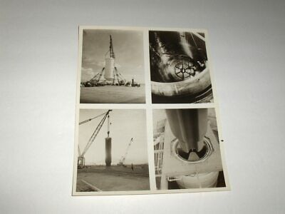 VINTAGE 2-15-1966 NASA SEQUENCE OF PHOTOS 260 INCH SOLID PROP. MOTOR B&W Photo