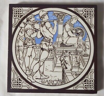 STUNNING MINTON moyr-smith NARRATIVE 'GARETH' DESIGN ANTIQUE 6 INCH TILE