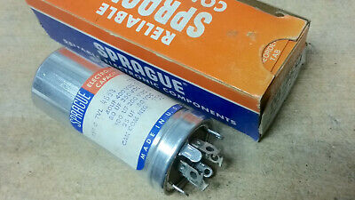 New Unused Sprague HV Can Capacitor - Old Vintage Ham Radio Tube TV Television