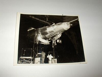 VINTAGE 1966 NASA M2-F2 LIFTING BODY RESEARCH VEHICLE IN WIND TUNNEL B&W Photo