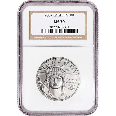 2007 American Platinum Eagle 1 oz $100 - NGC MS70