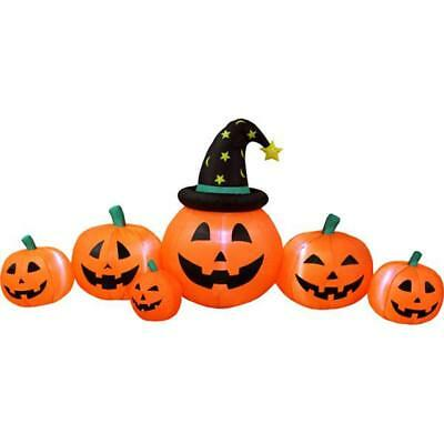 8' Pumpkin Patch Lighted Airblown Inflatable Outdoor Yard Halloween Decoration