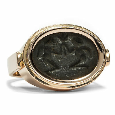 Ring with Antique Archaischer Gem, Greece, Probably 7. Jh before Christ