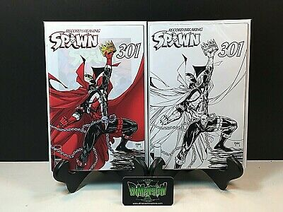 Spawn #301 2 Set Regular Cover, & B&W Mcfarlane Covers 1St Print Nm
