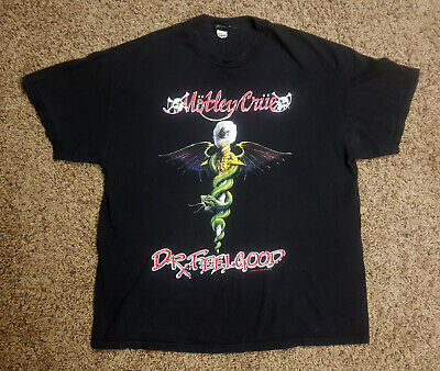 MOTLEY CRUE Doctor Dr Feelgood Shirt - XL - Tommy Lee Rock Glam Heavy Metal LA