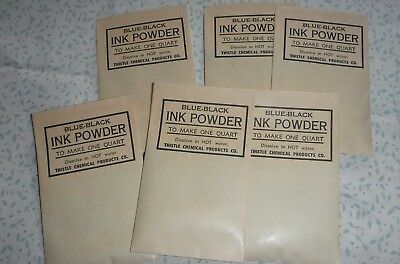 vintage packets of Ink powder to make ink for dip pens and fountain pens