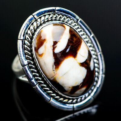 Large Peanut Wood Jasper 925 Sterling Silver Ring 9 Ana Co Jewelry R973192F