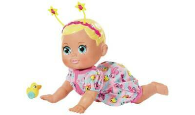 Baby Born Funny Faces Crawling Baby Doll Wiggles & Crawls When Tummy Is Pressed