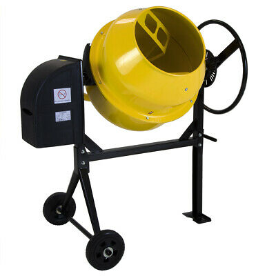 Charles Bentley Cement Mixer with Wheels - 140 Ltr - 230V 550W - Portable