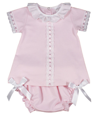 Baby girl dress jam pants Spanish style BOWS cotton lace
