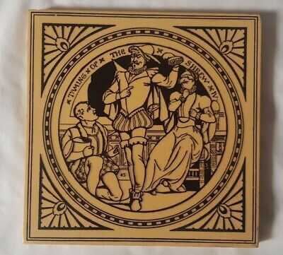 ANTIQUE MINTON 'TAMING OF THE SHREW' Shakespeare MOTR-SMITH  6 INCH TILE
