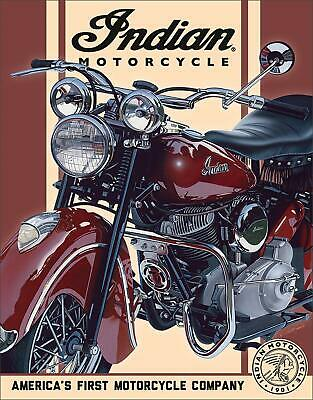 """Indian Motorcycle - 1948 Chief Tin Sign, 12.5"""" W x 16"""" H"""